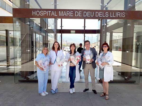 Els 'coixins del cor' de Biar arriben al Hospital d'Alcoi
