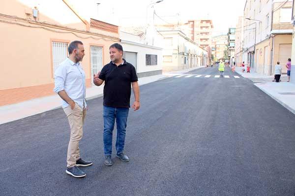 Finalitzen les obres de renovació de la xarxa d'aigua al barri Sant Jaume d'Ibi
