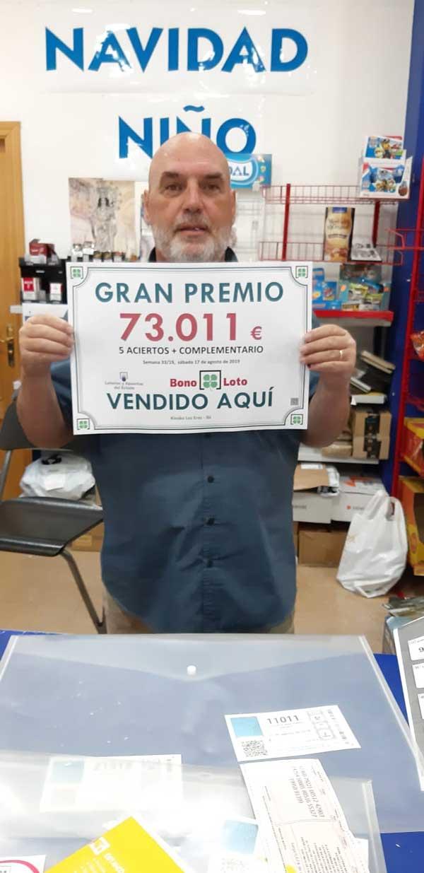 La bonoloto deixa a Ibi un premi de més de 73.000 euros