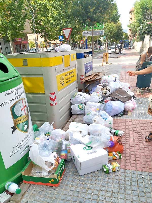 La edil de Servicios Públicos de Ibi apunta a varios motivos por los que ha habido saturación en los contenedores de recogida selectiva