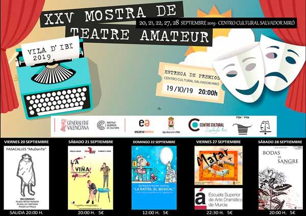 La Mostra de Teatre Amateur de Ibi llega con nuevas propuestas