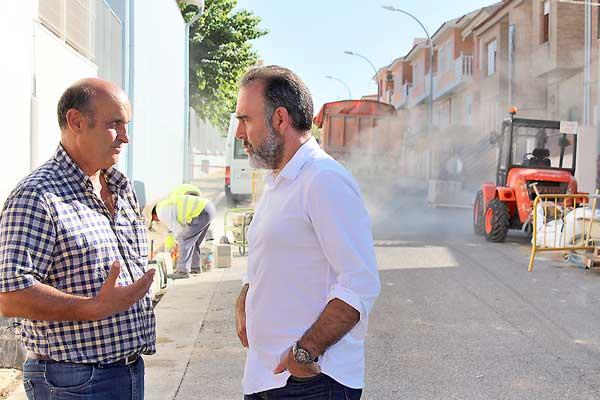 Obras de renovación de infraestructuras hidráulicas en el barrio San Miguel de Ibi