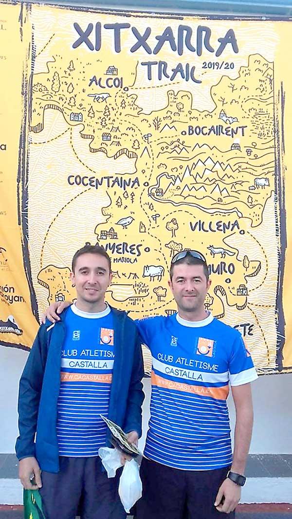 Raúl Hernández i Javier Berbegal participen en la Pujada al Montcabrer
