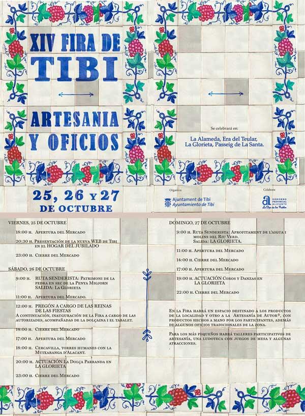 Tibi organiza la XIV Feria de Artesanía y Oficios