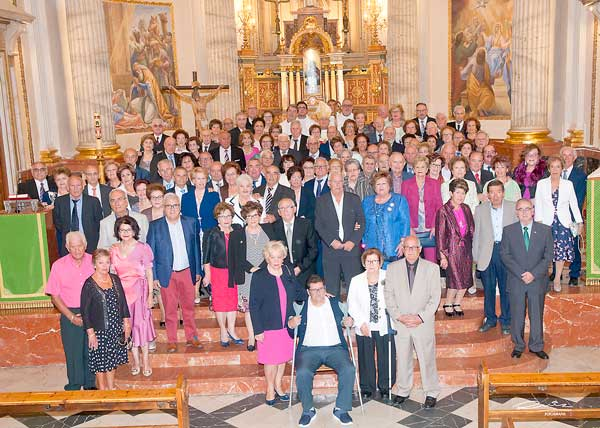 Un total de 52 parelles d'Ibi celebren les seues Bodes d'Or
