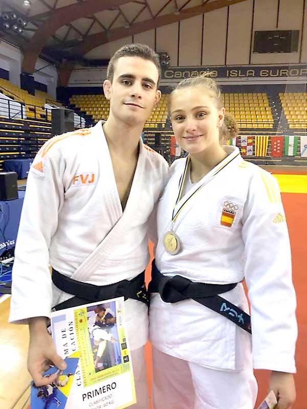 Oro y plata para Pedro Gómez y Marina Castelló en la Copa de España de judo