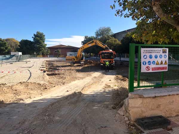 Comencen les obres de el nou edifici al col·legi Rico Sapena de Castalla