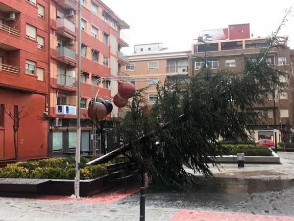 El temporal está dejando numerosos incidentes en Ibi
