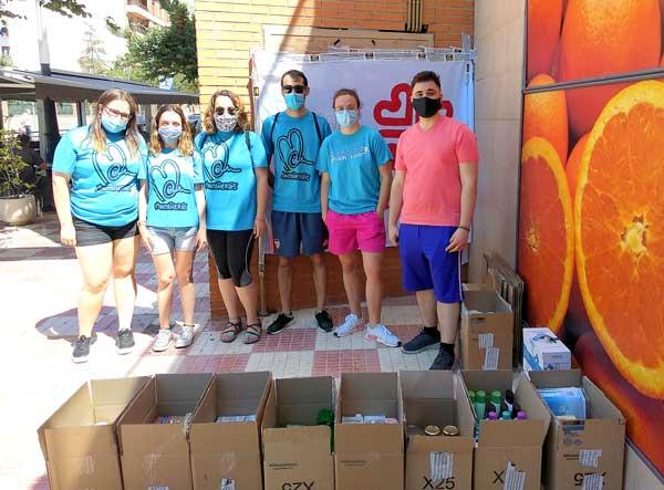 Càritas arreplega més de 130 caixes amb aliments i productes d'higiene personal