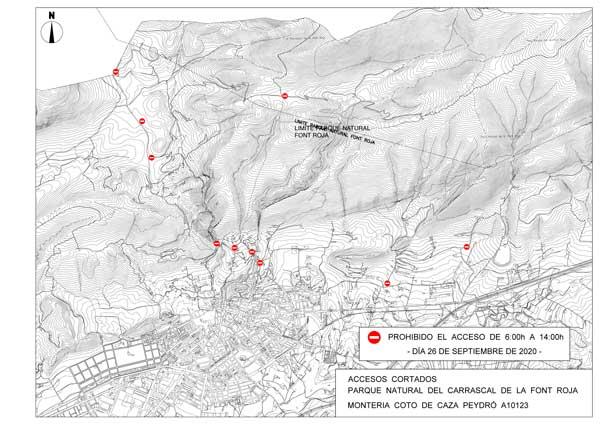Organizada una montería de caza en la Font Roja para controlar la superpoblación de arruís