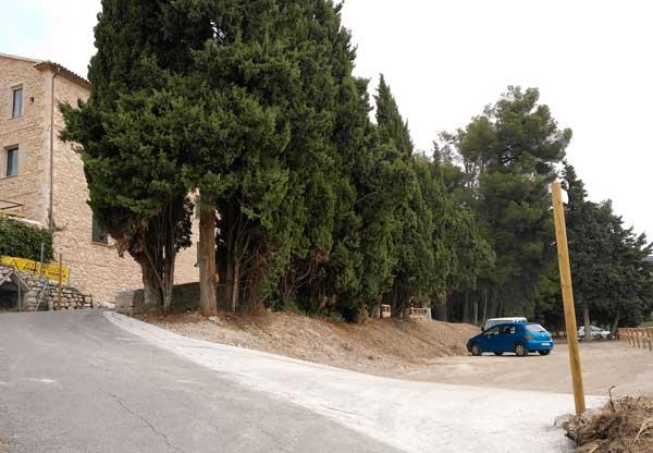 Ibi habilita un parking junto al Molí de Paper y cerca del Barranc dels Molins