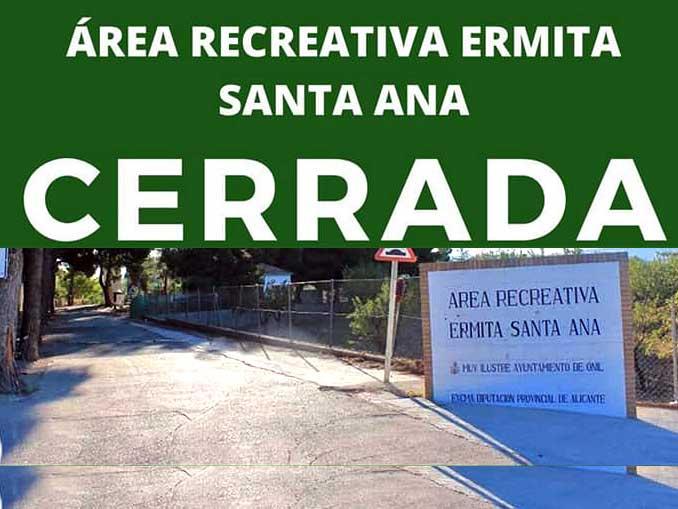 """Precintada el área de Santa Ana por el """"incumplimiento reiterativo"""" de los usuarios"""