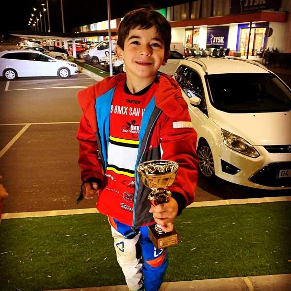 El ibense Marc Carbonell se alza con un tercer puesto en categoría 5/6 años en BMX en Mazarrón