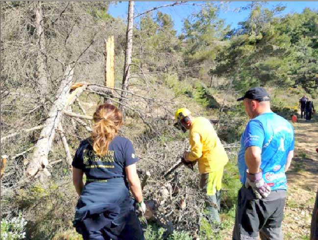 El Ayuntamiento de Onil prepara las zonas forestales para la prevención de incendios y temporales