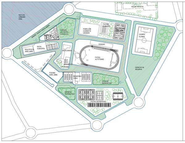 El Parc Esportiu d'Onil ocuparà més de 213.000 metres i es desarollará en varies fases