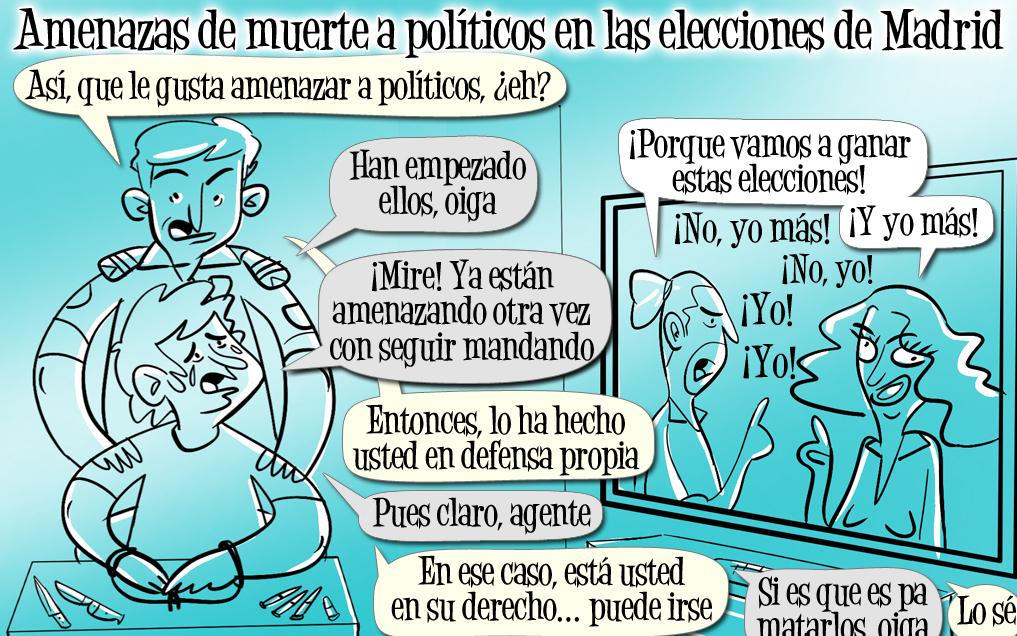 Amenaces de mort a polítics en les eleccions de Madrid