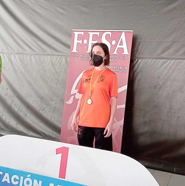 Macarena Esteve, séptima en el Campeonato de España de Natación y marca personal en 50 metros libres