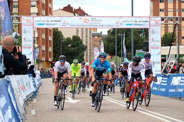 El ciclista ibense Josué Gómez sube al podio en la X Clásica Valladolid Memorial Ángel Lozano