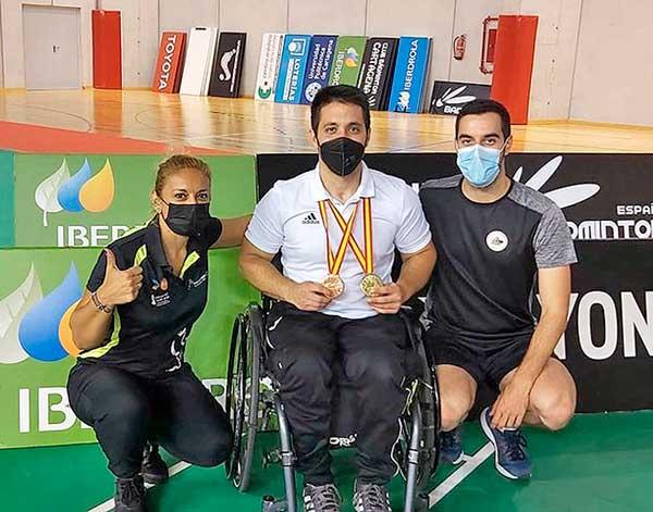 El ibense Jordi Carrión, campeón de España de Parabádminton