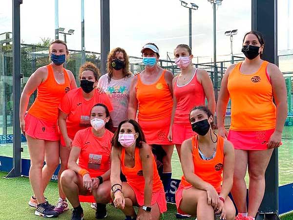 El equipo Femenino Padelplus Ibi, campeón de liga de 2ª División