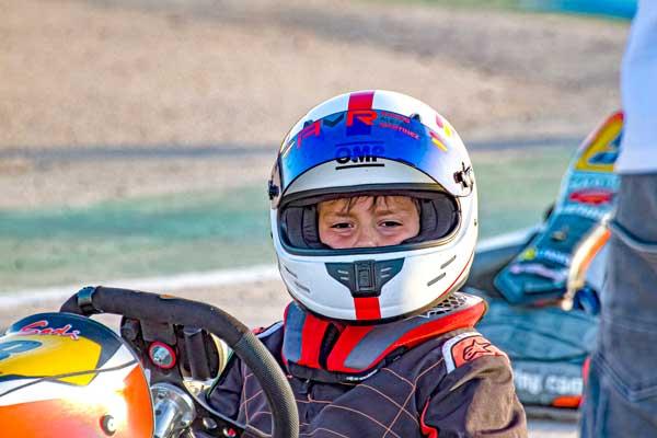El joven castellut Alejandro Martínez, nueva promesa del karting nacional